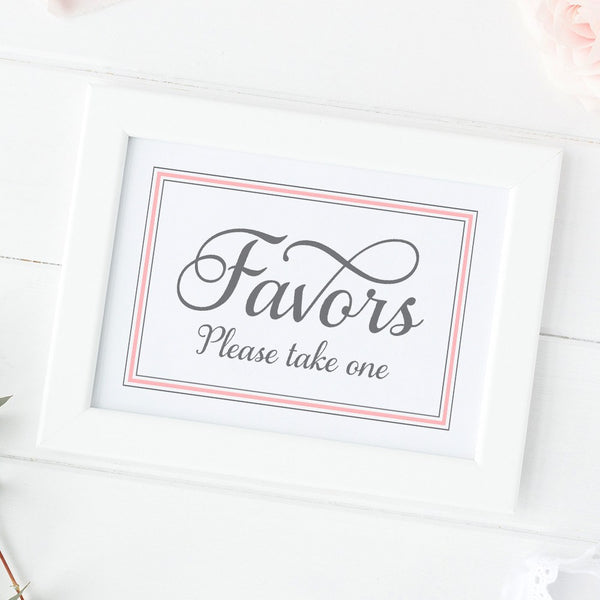 Favors sign 'Elevated Elegance' -  - Dazzling Daisies