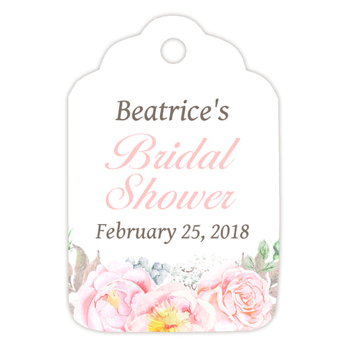 Favor tags 'Floral Romance' - Blush - Dazzling Daisies