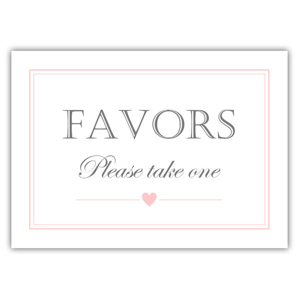 Favors sign - Blush - Dazzling Daisies