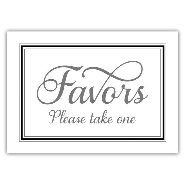 Favors sign 'Elevated Elegance' - Black - Dazzling Daisies