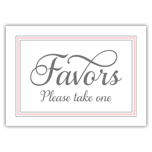 Favors sign 'Elevated Elegance' - Blush - Dazzling Daisies