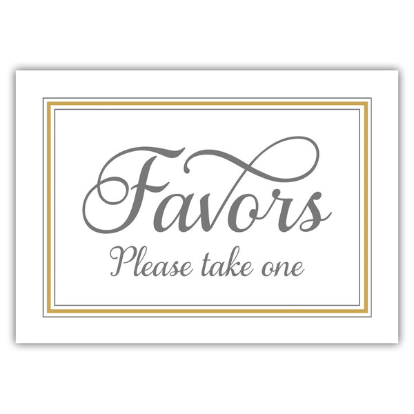 Favors sign 'Elevated Elegance' - Gold - Dazzling Daisies