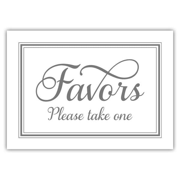 Favors sign 'Elevated Elegance' - Gray - Dazzling Daisies