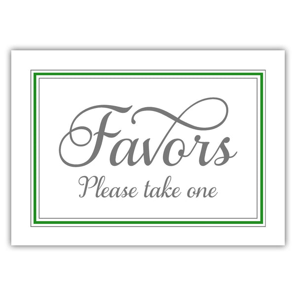 Favors sign 'Elevated Elegance' - Green - Dazzling Daisies