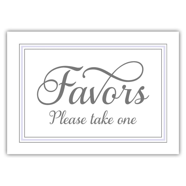 Favors sign 'Elevated Elegance' - Lavender - Dazzling Daisies