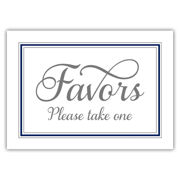 Favors sign 'Elevated Elegance' - Navy - Dazzling Daisies
