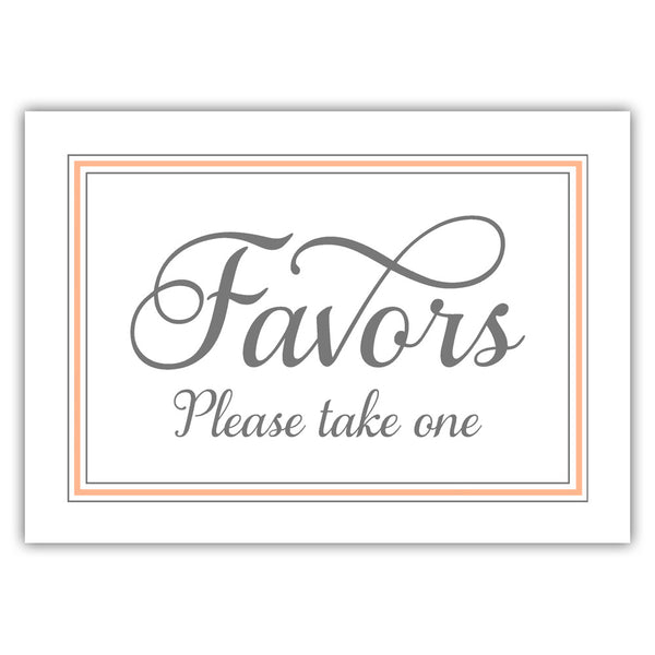 Favors sign 'Elevated Elegance' - Peach - Dazzling Daisies