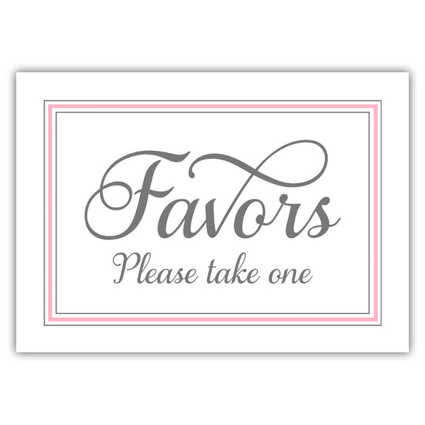 Favors sign 'Elevated Elegance' - Pink - Dazzling Daisies