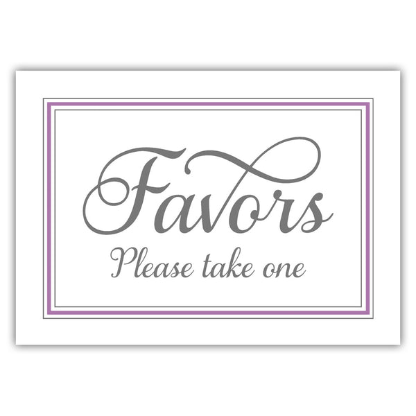Favors sign 'Elevated Elegance' - Plum - Dazzling Daisies
