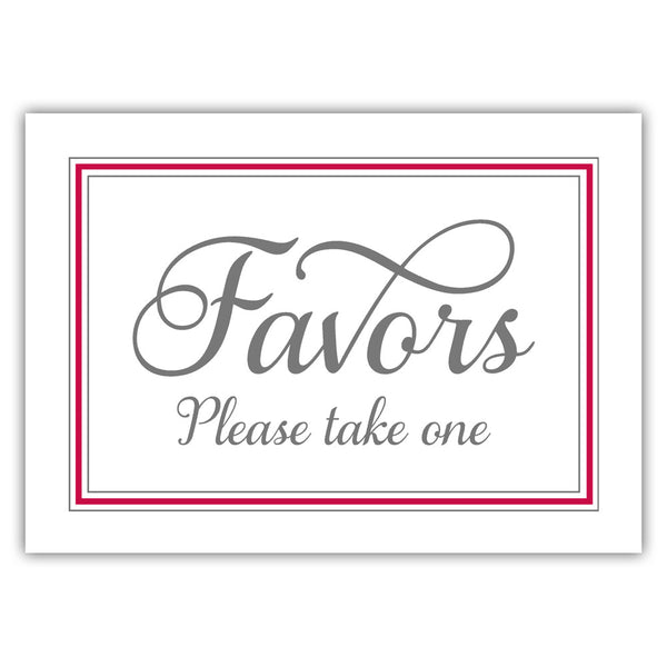 Favors sign 'Elevated Elegance' - Raspberry - Dazzling Daisies
