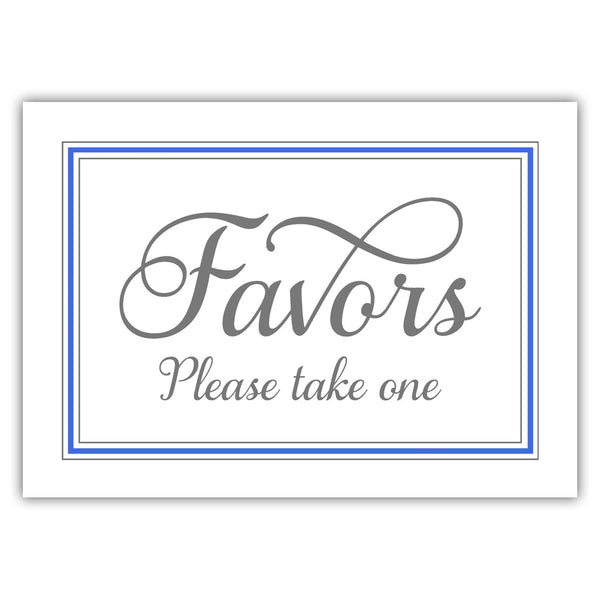 Favors sign 'Elevated Elegance' - Royal blue - Dazzling Daisies