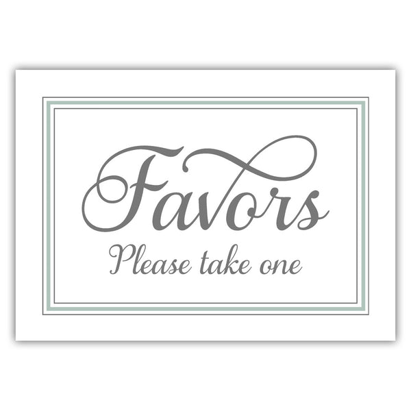 Favors sign 'Elevated Elegance' - Sage - Dazzling Daisies