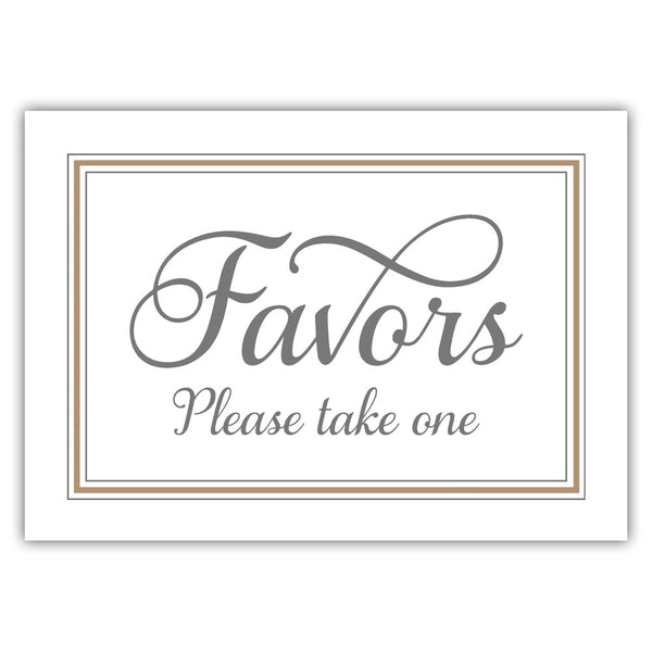 Favors sign 'Elevated Elegance' - Sand - Dazzling Daisies