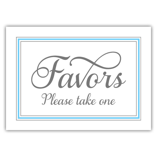 Favors sign 'Elevated Elegance' - Sky blue - Dazzling Daisies