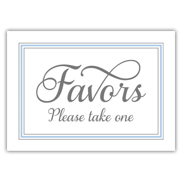 Favors sign 'Elevated Elegance' - Steel blue - Dazzling Daisies