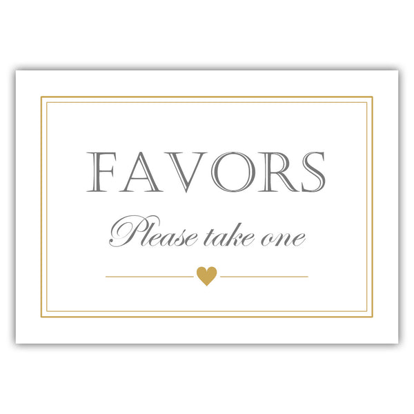 Favors sign - Gold - Dazzling Daisies