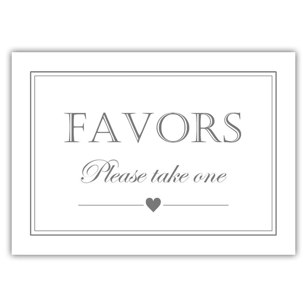 Favors sign - Gray - Dazzling Daisies