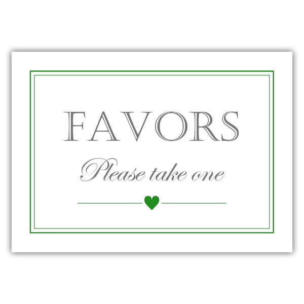 Favors sign - Green - Dazzling Daisies