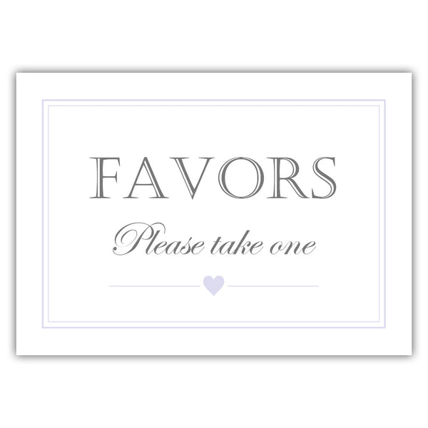 Favors sign - Lavender - Dazzling Daisies