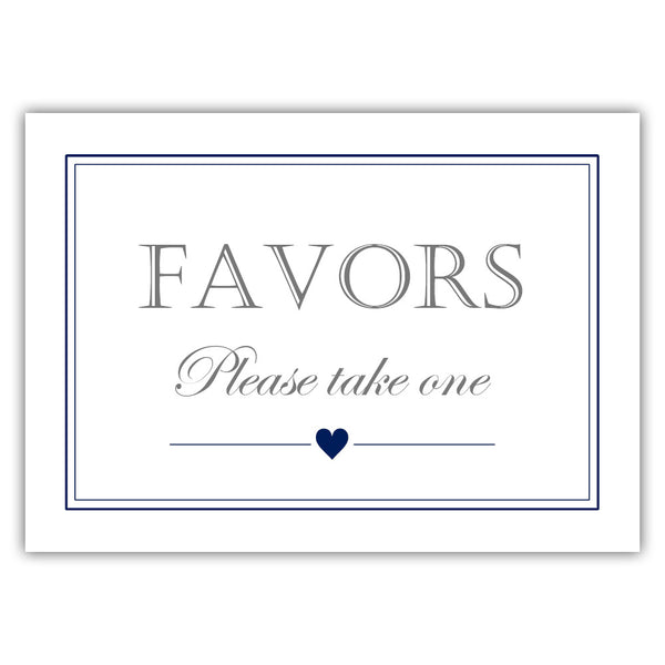 Favors sign - Navy - Dazzling Daisies