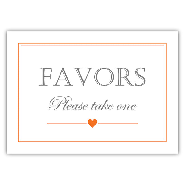 Favors sign - Orange - Dazzling Daisies