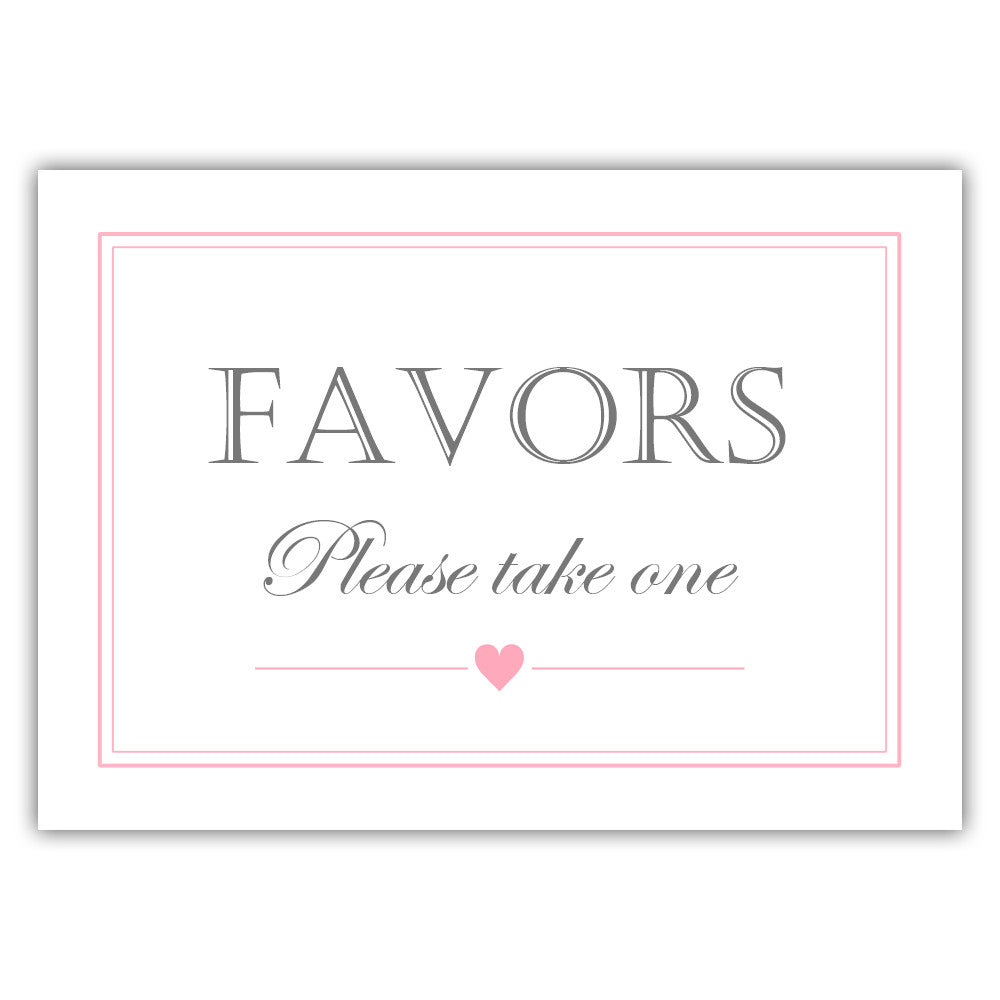 Favors sign - Black - Dazzling Daisies