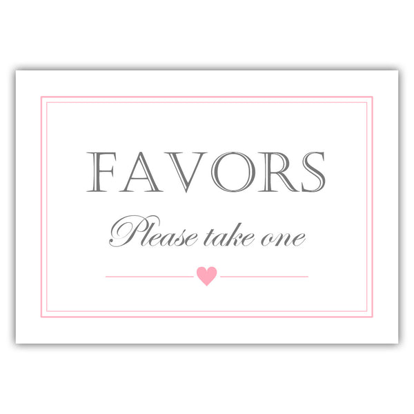 Favors sign - Pink - Dazzling Daisies