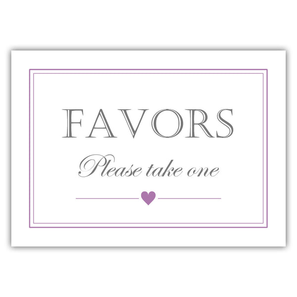 Favors sign - Plum - Dazzling Daisies