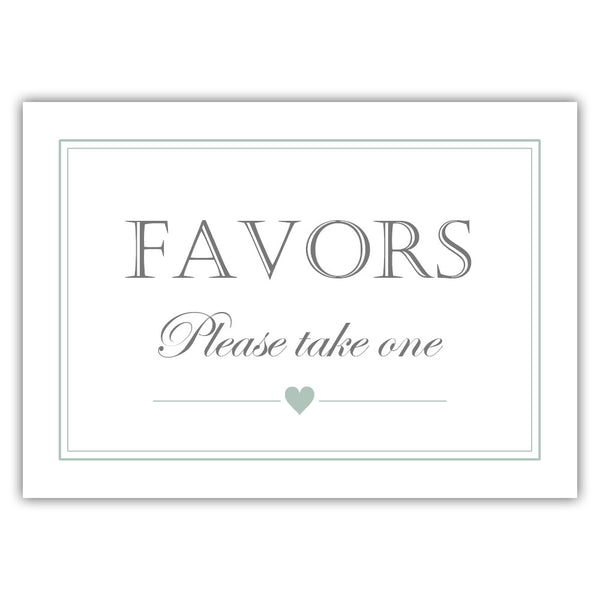 Favors sign - Sage - Dazzling Daisies