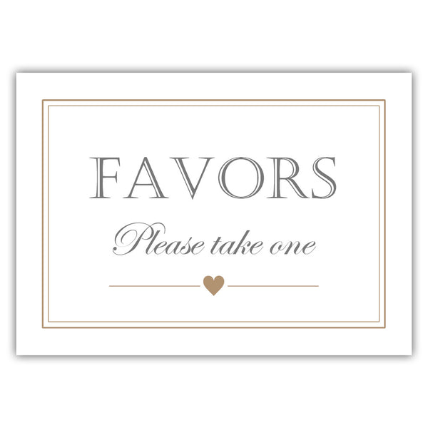Favors sign - Sand - Dazzling Daisies
