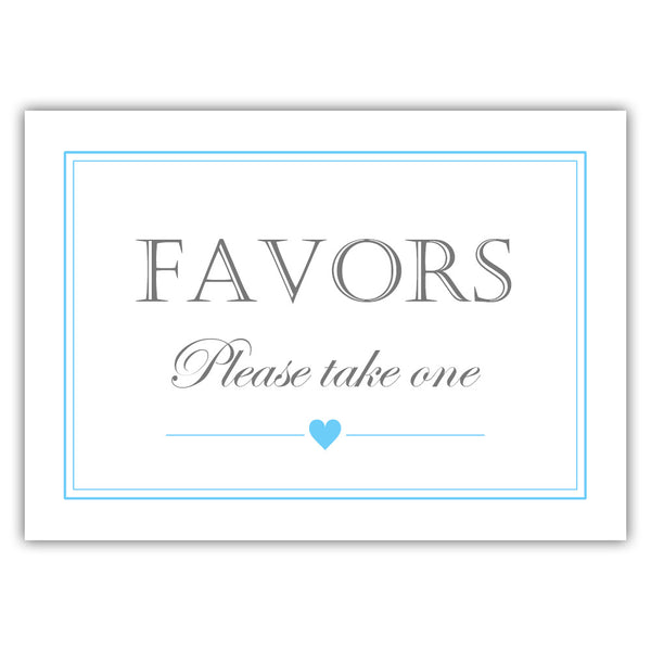 Favors sign - Sky blue - Dazzling Daisies