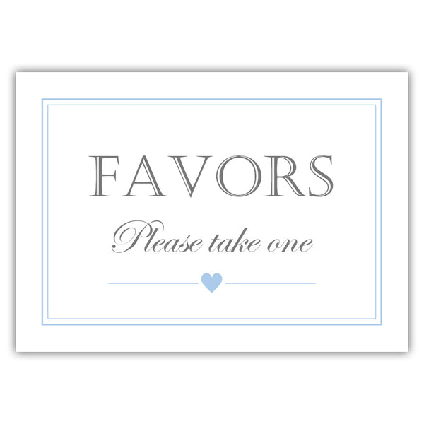Favors sign - Steel blue - Dazzling Daisies