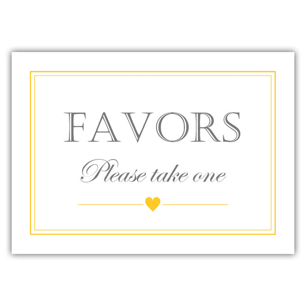 Favors sign - Yellow - Dazzling Daisies