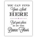 Find your seat sign - 5x7