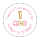 First birthday stickers