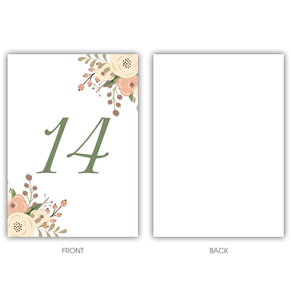 Floral table numbers - 1-6 / Floral - Dazzling Daisies