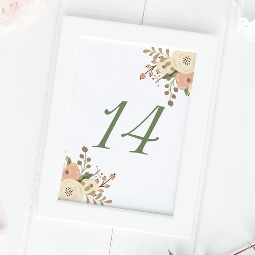 Floral table numbers -  - Dazzling Daisies