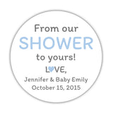 From our shower to yours stickers - 1.5