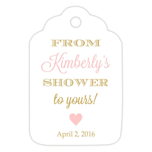 From my shower to yours tags 'Classic Elegance' - Gold/Blush - Dazzling Daisies