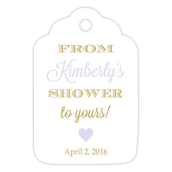From my shower to yours tags 'Classic Elegance' - Gold/Lavender - Dazzling Daisies
