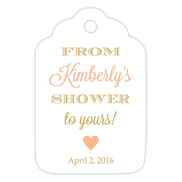 From my shower to yours tags 'Classic Elegance' - Gold/Peach - Dazzling Daisies