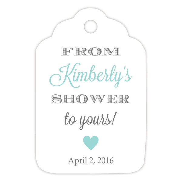 From my shower to yours tags 'Classic Elegance' - Gray/Aquamarine - Dazzling Daisies