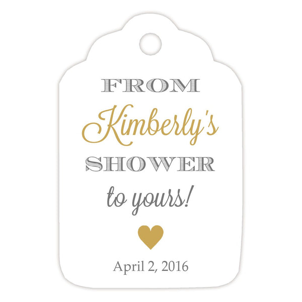 From my shower to yours tags 'Classic Elegance' - Gray/Gold - Dazzling Daisies