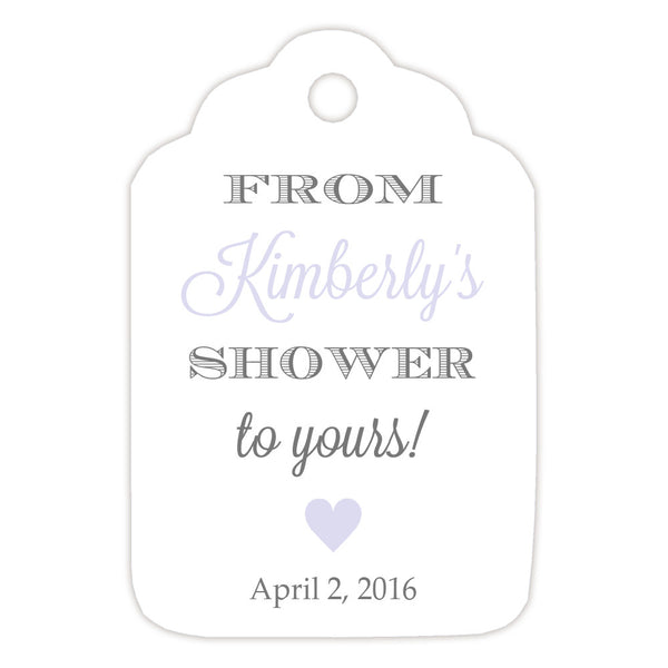 From my shower to yours tags 'Classic Elegance' - Gray/Lavender - Dazzling Daisies