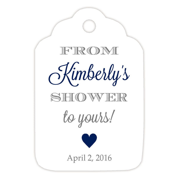 From my shower to yours tags 'Classic Elegance' - Gray/Navy - Dazzling Daisies