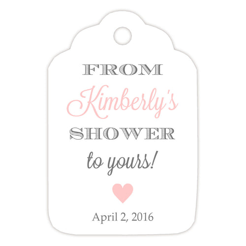 From my shower to yours tags heart - Gray/Blush - Dazzling Daisies