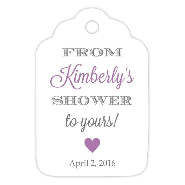 From my shower to yours tags 'Classic Elegance' - Gray/Plum - Dazzling Daisies