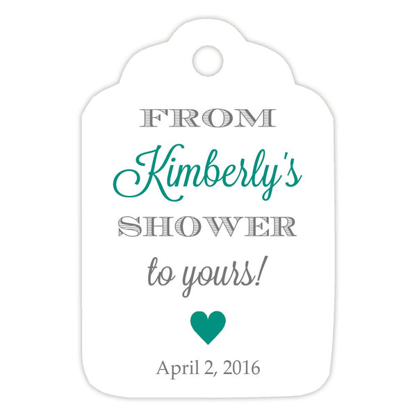 From my shower to yours tags 'Classic Elegance' - Gray/Teal - Dazzling Daisies