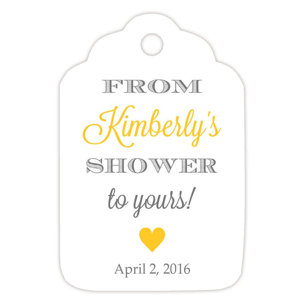 From my shower to yours tags 'Classic Elegance' - Gray/Yellow - Dazzling Daisies