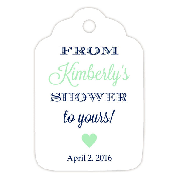 From my shower to yours tags 'Classic Elegance' - Navy/Mint - Dazzling Daisies